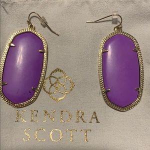 Purple Danielle Kendra Scott Earrings